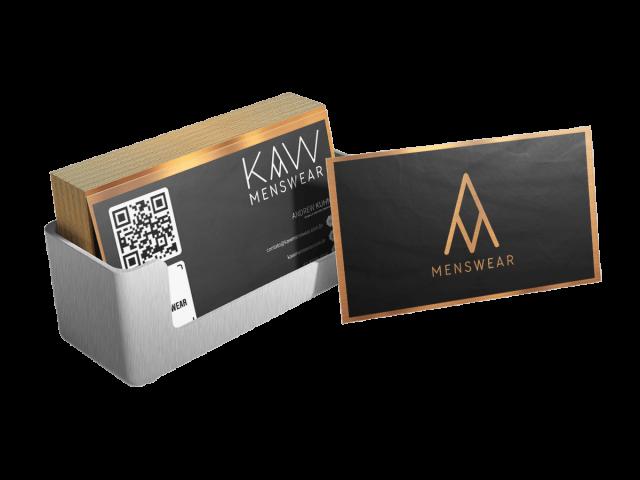 Mockup Cartão KAW Menswear