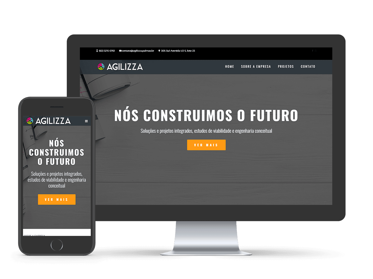 Mockup Website Agilizza