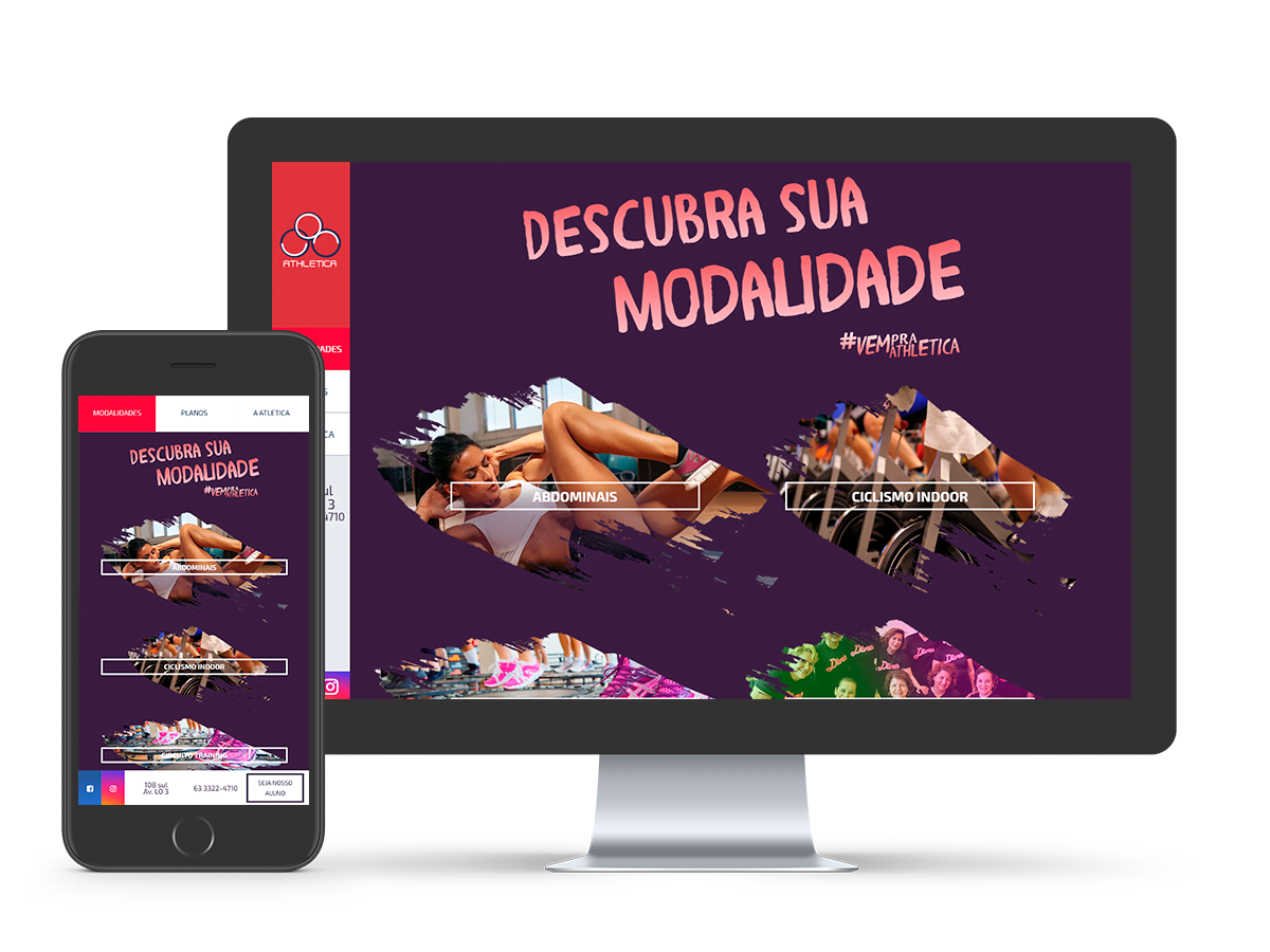 Mockup Website Academia Atletica