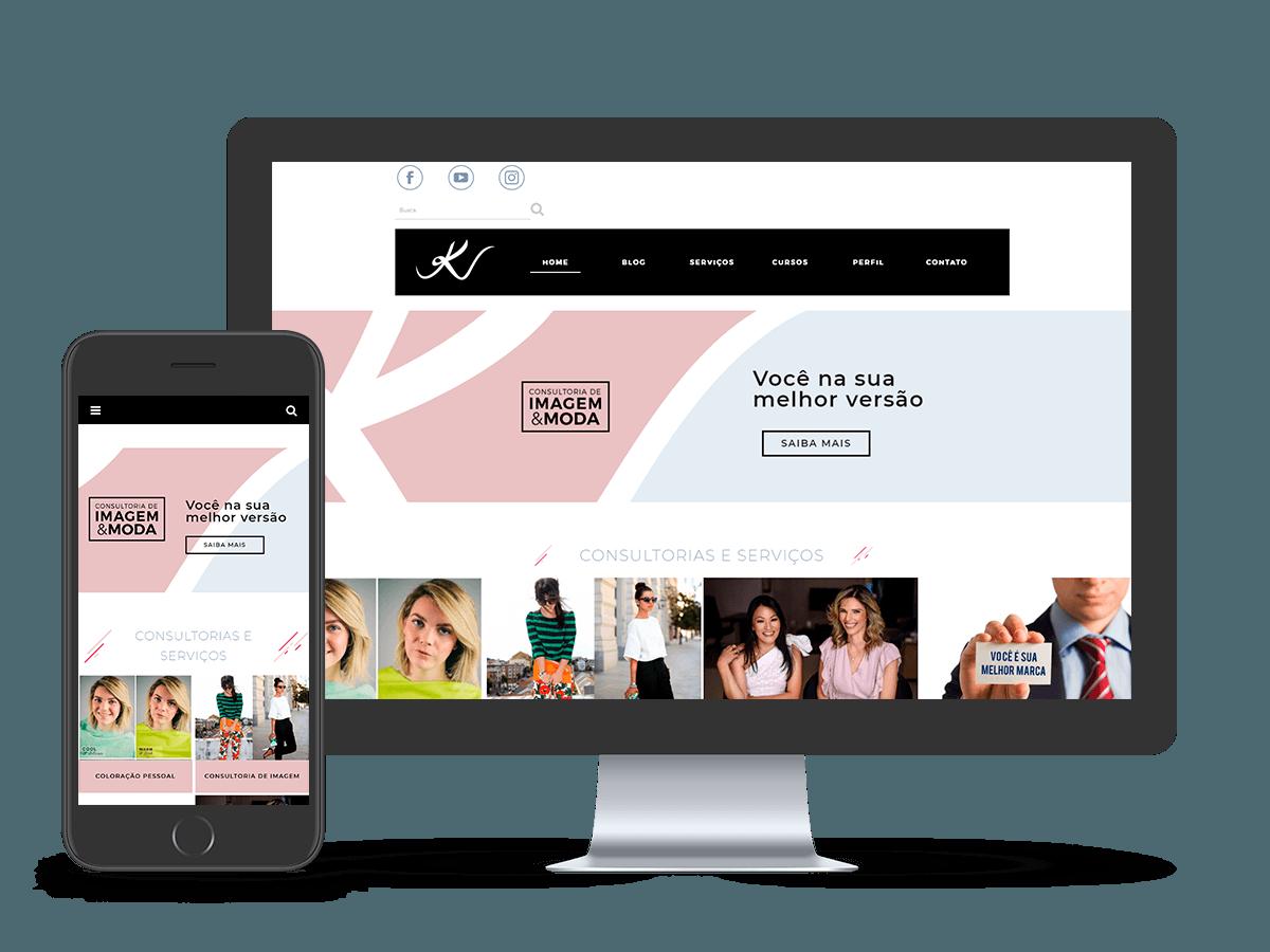 Mockup Website Kassandra Valduga