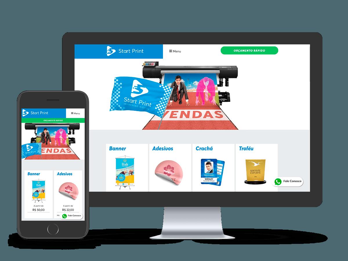 Mockup Website Start Print