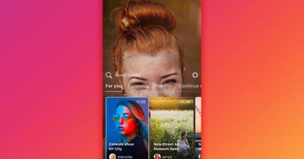 O Instagram atualiza o aplicativo IGTV e adiciona nova opção de visualização do IGTV para histórias